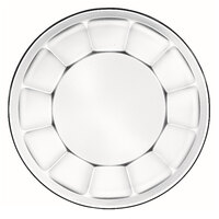 Libbey Gibraltar 15412 8 inch Glass Soup / Deep Salad Plate - 36 / Case