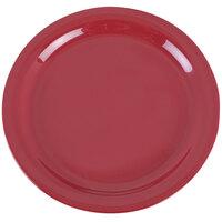 Carlisle 4385205 Red Dayton 9 inch Melamine Dinner Plate - 48 / Case