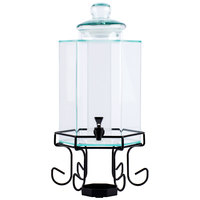 Cal-Mil 1111A 2 Gallon Acrylic Beverage Dispenser with Iron Stand and Glass Lid