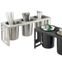 Cal Mil 1608-55 Squared Stainless Steel 3 Cylinder Display – 16 inch x 5 1/4 inch x 6 inch