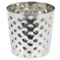 Hammered Stainless Steel French Fry Cup - 3 1/2 inch