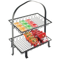 Cal-Mil 1584-12-13 Soho Two Tier Black Merchandiser Frame - 23 3/4 inch x 14 1/4 inch x 26 1/2 inch