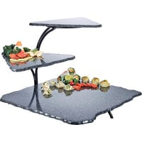 Cal-Mil SS800-31 Simulated Stone Black Three Tier Riser - 20 inch x 30 inch x 18 inch