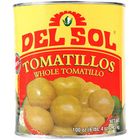 Del Sol Whole Tomatillos - #10 Can - 6 / Case