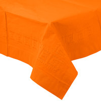 Creative Converting 710237B 54 inch x 108 inch Sunkissed Orange Tissue / Poly Table Cover