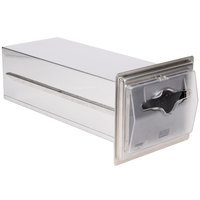 Vollrath 6535-13 Stainless Steel In-Counter Limited Fullfold Napkin Dispenser with Clear Faceplate