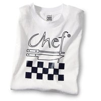 Chef Revival TS001-M Chef Logo White T-Shirt - Cotton Size M