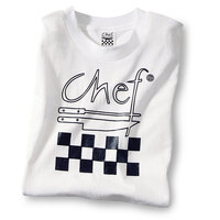 Chef Revival TS001-L Chef Logo White T-Shirt - Cotton Size L