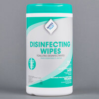 WipesPlus Fresh Scent Alcohol Free Disinfecting Wipes - 75 / Canister - 6 Canisters / Case