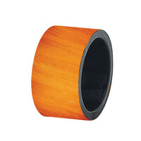 Tabletop Classics AC-6512BRW Faux Brown Wood 1 3/4 inch Round Acrylic Napkin Ring