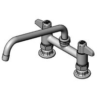 Equip by T&S 5F-6DLS10 Deck Mount Mixing Faucet with Lever Handles and 10 inch Swing Nozzle on 6 inch Centers