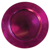 Tabletop Classics TRRB-6651 13 inch Raspberry Round Acrylic Charger Plate