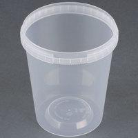 32 oz. Clear Tamper Evident Safe Lock Deli Container - 50 / Pack