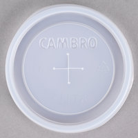 Cambro CLLT8 Disposable Translucent Lid with Straw Slot for Cambro LT8 Laguna 8 oz. Tumbler - 2000 / Case