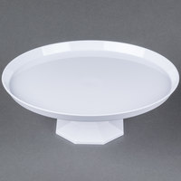 Fineline Platter Pleasers 3600-WH 9 3/4 inch Two-Piece White Cake Stand - 3 / Pack