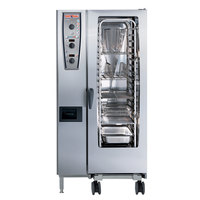 Rational CombiMaster Plus Model 201 A219106.12.202 Combi Oven with Twenty Half Size Sheet Pan Capacity - 208/240V 3 Phase