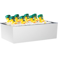 Cal-Mil 475-12-15 White Melamine Ice Housing with Clear Pan - 20 inch x 12 inch x 6 inch