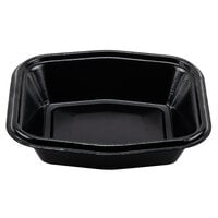 Genpak 50005 Smart-Set 7 inch x 7 inch Black Foam Serving Tray 500 / Case