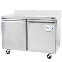 Avantco TWT-48R 48 inch Double Door Worktop Refrigerator with 3 1/2 inch Backsplash - 11.9 Cu. Ft.