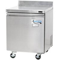 Avantco TWT-27F 27 inch Single Door Worktop Freezer with 3 1/2 inch Backsplash - 6.25 cu. ft.