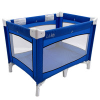 L.A. Baby PY-87-CS-0406 Collapsible Blue Play Yard with Carrying Case