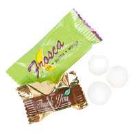 Customizable Chocolate Pastel Mints with a White Candy Shell - 1000 / Case
