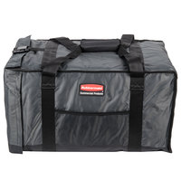 Rubbermaid 9F12 ProServe 27 inch x 18 1/4 inch x 16 inch Gray Insulated Nylon End Load Full Size Food Pan Carrier (FG9F1200CGRAY)