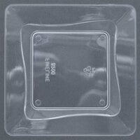 Fineline Tiny Temptations B6200-CL 3 inch x 3 inch Clear Plastic Tiny Tray - 10 / Pack