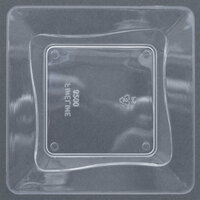 Fineline Tiny Temptations B6200-CL 3 inch x 3 inch Clear Plastic Tiny Tray - 10/Pack