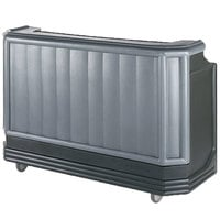 Cambro BAR730420 Granite Gray and Black Cambar 73 inch Portable Bar with 7 Bottle Speed Rail