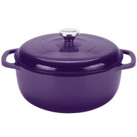 Lodge EC6D93 6 Qt. Cafe Purple Color Enamel Dutch Oven