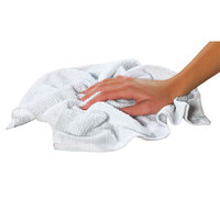 Chef Revival 700BRT28 16 inch x 19 inch White 28 oz. Ribbed 100% Cotton Bar Towel - 12 / Pack