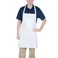 Chef Revival 600BAW-XL 38 inch x 30 inch Customizable Extra Wide White Polyester Bib Apron