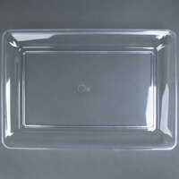 Fineline Platter Pleasers 3518-CL 12 inch x 18 inch Plastic Clear Rectangular Tray