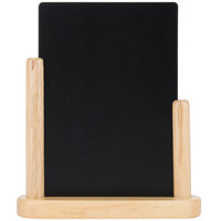 American Metalcraft ELEBME 6 inch x 9 inch Natural Wood-Finish Table Top Board