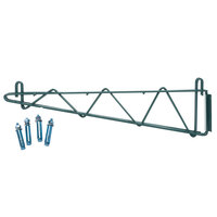 Regency 24 inch Deep Double Wall Mounting Bracket for Adjoining Green Epoxy Wire Shelving