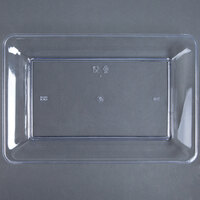Fineline Platter Pleasers 3540-CL 10 inch x 14 inch Plastic Clear Rectangular Tray