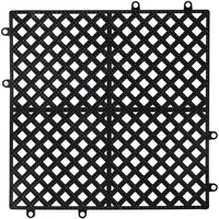 12 inch x 12 inch Black Interlocking Bar Mat