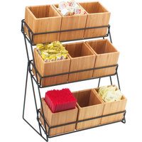 Cal-Mil 1817-13 Iron Bamboo Nine Bin Black Wire Display - 13 inch x 9 1/2 inch x 17 1/2 inch