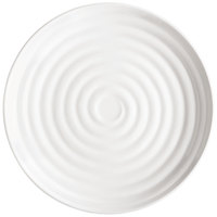 GET ML-80-W Milano 7 1/2 inch White Melamine Round Plate - 12/Pack