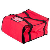 Choice 20 inch x 20 inch x 12 inch Nylon Insulated Pizza Delivery Bag