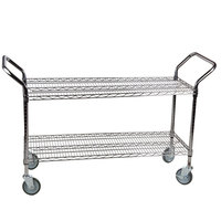 Regency 24 inch x 42 inch Two Shelf Chrome Heavy Duty Utility Cart