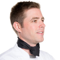 Chef Revival H500BK 38 inch x 28 inch Black Poly-Cotton Chef Neckerchief