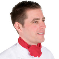 Chef Revival H500RD 38 inch x 28 inch Red Poly-Cotton Chef Neckerchief