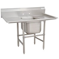 Advance Tabco 94-1-24-18RL Spec Line One Compartment Pot Sink with Two Drainboards - 54 inch