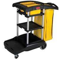 Rubbermaid FG9T7200BLA High Capacity Janitor Cart