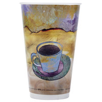 LBP Monaco 16 oz. Printed Double-Wall Poly Paper Hot Cup - 27 / Pack