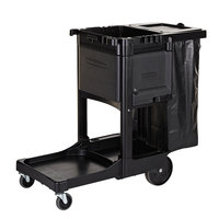 Rubbermaid 1861430BLACK Executive Janitor Cart