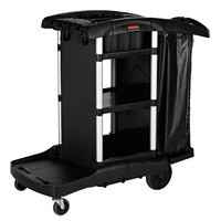 Rubbermaid 1861429BLACK Executive High Capacity Janitor Cart