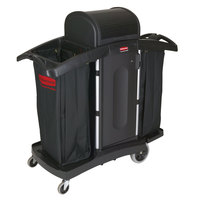 Rubbermaid FG9T7800BLA Executive High Security Housekeeping Cart